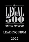 Recommended by Legal 500 UK 2012