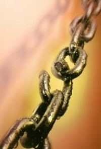 Photograph of chain with a split link